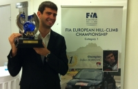 Trophy in the hands of Dusan Borkovic – Serbia officially got the first European Champion in race car driving