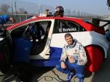 Dušan Borković drove his first laps in new Honda